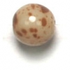 Glass Bead 7mm Marble Beige Strung (75 Beads/8 Strings)